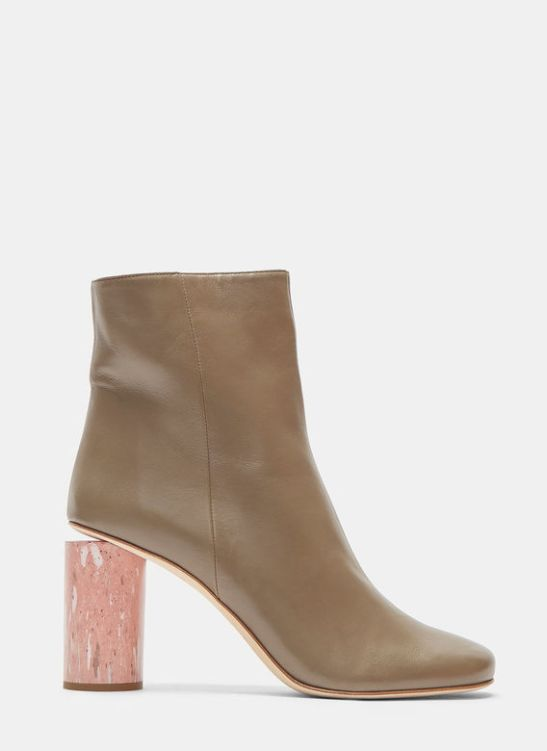 Acne marble heel lamb leather boots