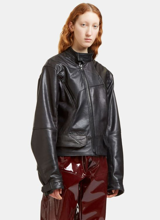 GmbH leather biker (conscious collection)