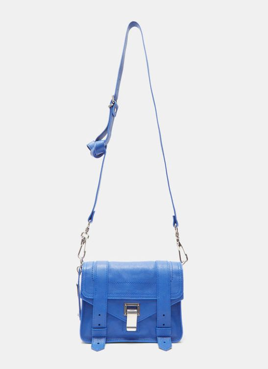 Proenza Schouler royal blue leather crossbody