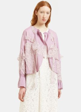 Renli Su pink and lace jacket